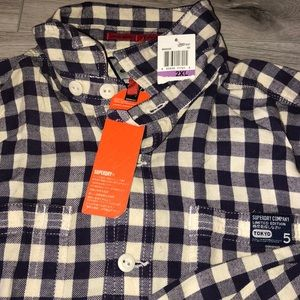 Brand New - Vintage Superdry Flannel Working Shirt